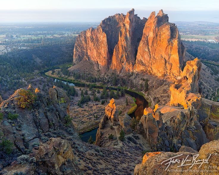 Smith Rock at Sunrise, Eastern Oregon