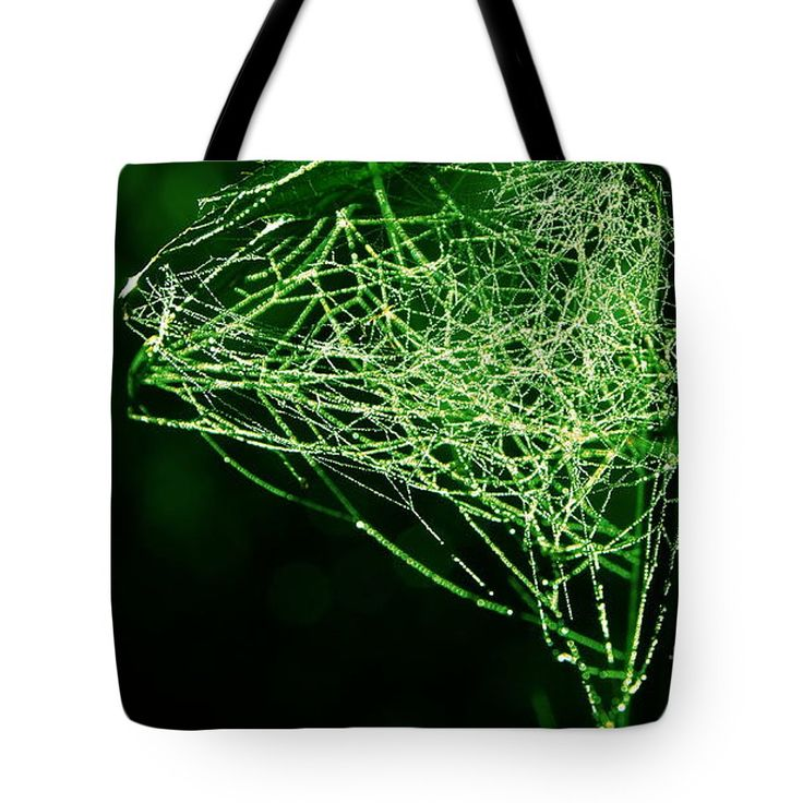 Morning Dew Tote Bag featuring the photograph Morning Dew In The Green by Sverre Andreas Fekjan
