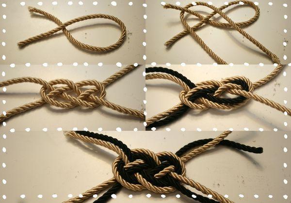 Double noeud plat
