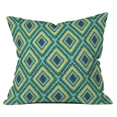 DENY Designs Island Diamond Throw Pillow