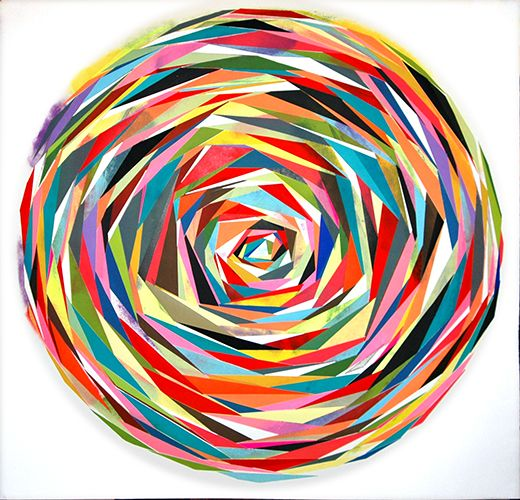 -Printmaker- Using repetition of shape and variety of color, you can create a radial design that stands out.