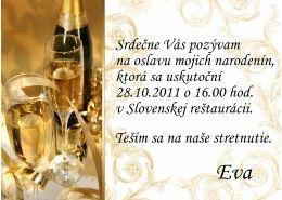 Pozvánka na oslavu jubilea - JU009