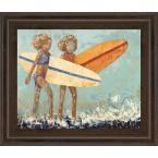"""22 in. x 26 in. """"Bikini Surf"""" by Rebecca Kinkead Framed Printed Wall Art"""