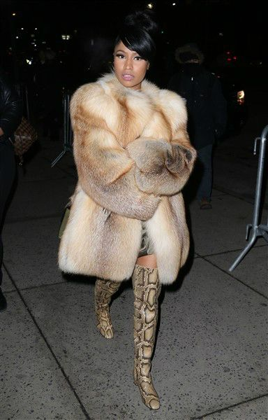 Nicki Minaj attends the Marc Jacobs fashion show during the Mercedes Benz Fall Fashion Week 2015 at The Theatre in Lincoln Center in New York City on Feb. 19, 2015. Celebrities at th