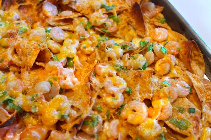 #Shrimp Nachos - These upgraded #nachos will be an unexpected, but welcomed, pairing for any #tailgate party!