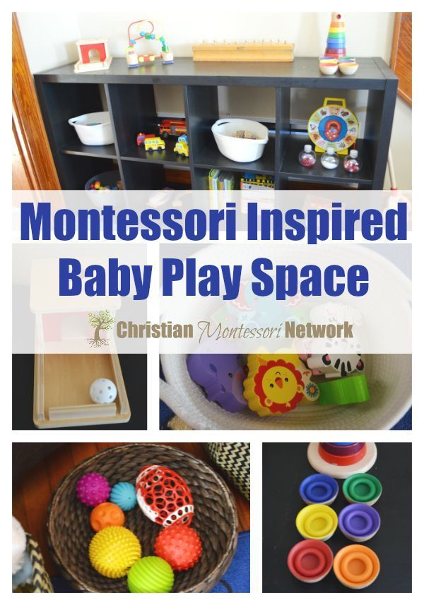 A fun and engaging Montessori inspired baby play space, being used currently by a 7 month old.