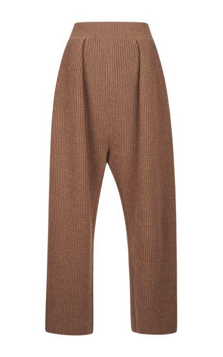 Contrast Color Rib Knit Pants by Sonia Rykiel - Moda Operandi