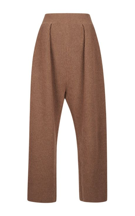 Contrast Color Rib Knit Pants |  By Sonia Rykiel - Moda Operandi