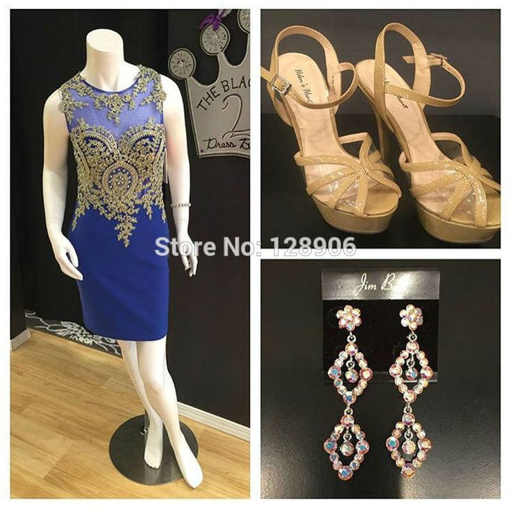 Unique Royal Blue Prom Dresses with Gold Appliques Lace O Neck Sexy Party Dresses Sheer Back Short Prom Gowns 2016