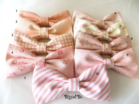 For Boggie! Blush Wedding Bow Ties Mix and Match by TangledTiesBowTies on Etsy