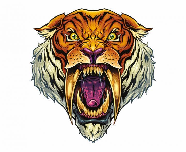 Saber Tooth Tiger Sabertooth Mascot Saber Tooth Tiger Png Sabertooth Tiger Sabertooth Tiger Artwork