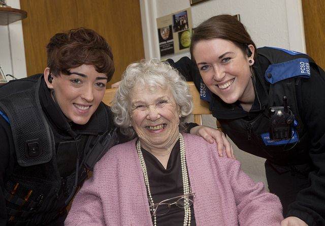 Two Police Community Support Officers who spent time with two lonely, elderly residents whilst off duty are being given a Chief Constable's Commendation this week. The two officers came to the Chief's attention earlier this year when their supervisor, Sergeant Allan Dean, was told of the support that they giving to two elderly ladies in Chorlton whilst off duty after meeting them while working. www.gmp.police.uk