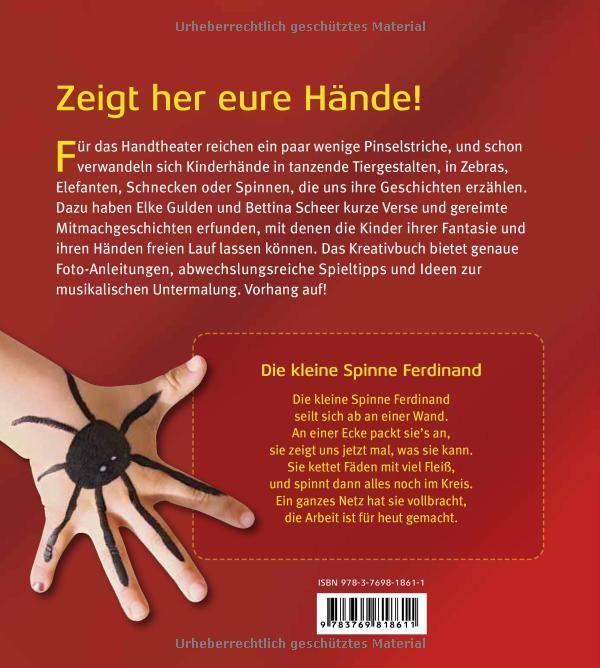 Handtheater und Fingerspiele - Bemalte Hände erzählen Geschichten: Amazon.de: Elke Gulden, Bettina Scheer: Bücher