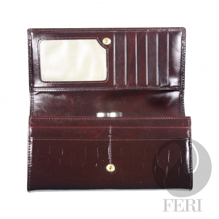 INSIDE OF THE FERI CRIMSON WALLET.  Beautiful Italian leather.  (click on pic and go directly to my website)