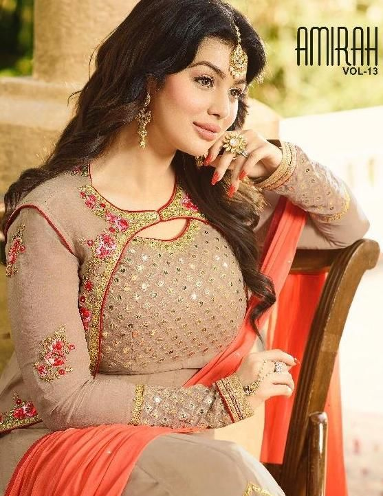e0ebd3c743 Amirah Fashion Amirah Vol 13 Heavy Embroidered Faux Georgette Long Anarkali  Salwar Kameez Dealer
