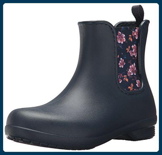 Crocs Damen Freesail Chelsea Boot Women Gummistiefel, Blau (Navy/Floral), 42/43 EU - Stiefel für frauen (*Partner-Link)