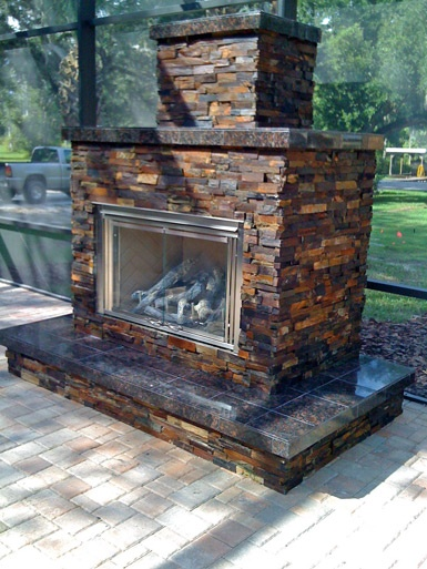 Ocala outdoor fireplaces outdoor fireplaces or in for Landscaping rocks ocala florida