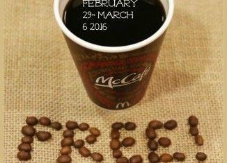 McDonald's Canada FREE Coffee 2016
