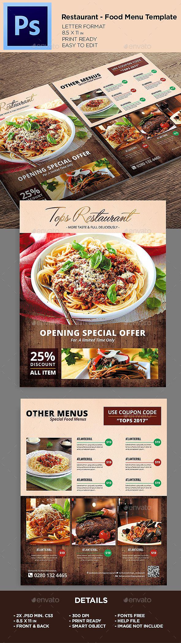 Resturant - Food Menu Flyer Template