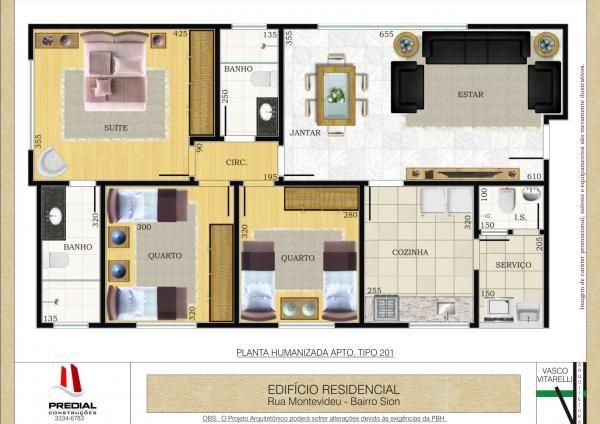 projeto apartamento 90m2 - Pesquisa Google