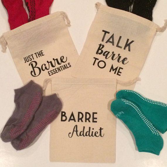 Barre Sock Bag  Barre  Pilates  Sticky Sock Bag by BeeRichDesign
