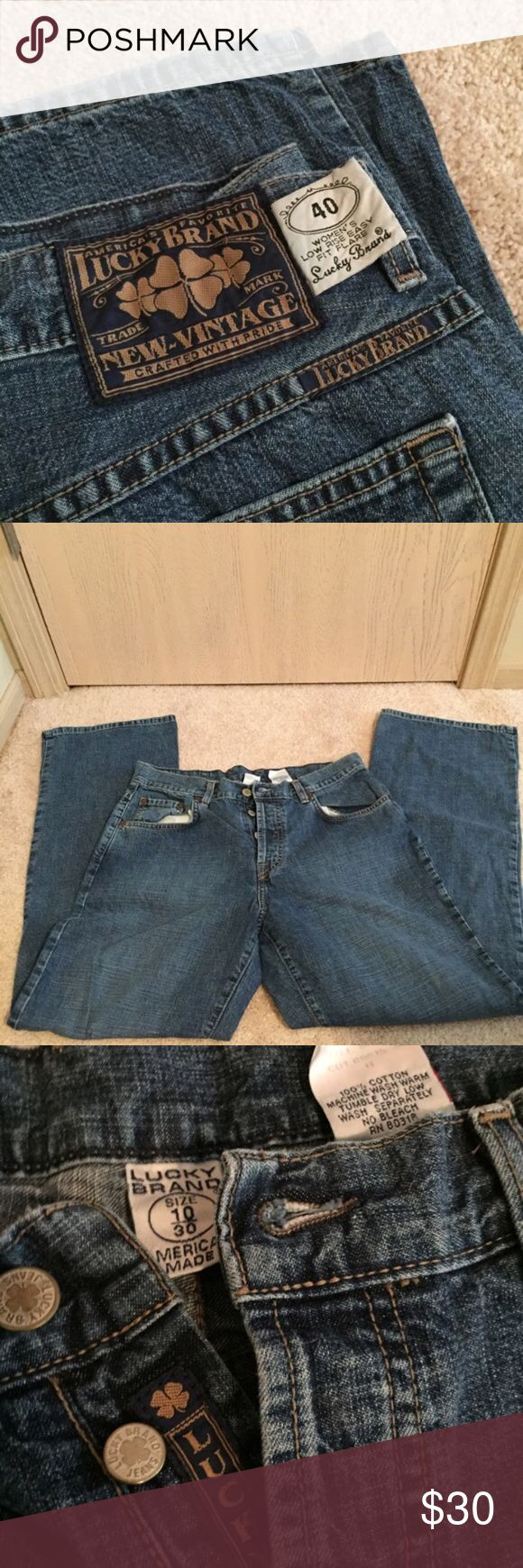 Lucky Jeans Sz 10/30 - Low Rise Easy Fit Flare 🔹Lucky Jeans Sz 10/30 - Low Rise Easy Fit Flare Lucky Brand Jeans