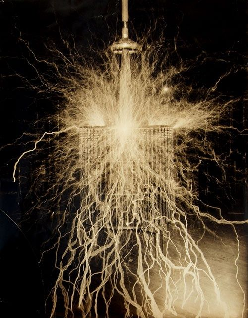tesla coil.  Uprising of technology, before its misuse and downfall