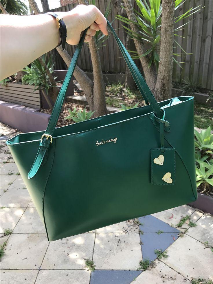 Green handbag , that's vintage