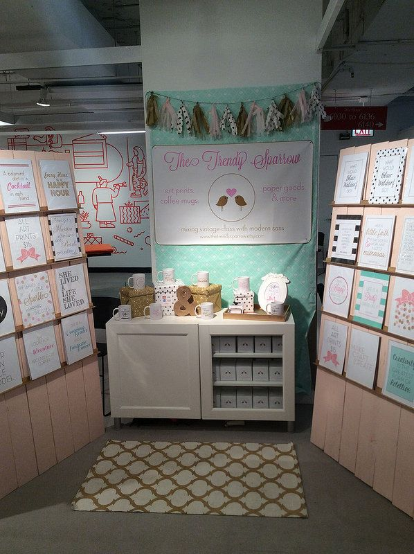 The Trendy Sparrow: One of a Kind Chicago 2014 Craft Show Booth and Recap