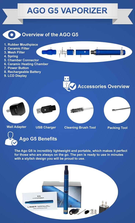 AGO G5 DRY Herb Vaporizer Pen Kit