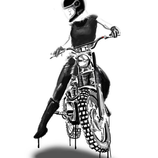 2156 best motorcycles tattoos and badass women images on for Biker chick tattoos