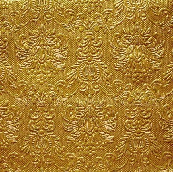 Prägeserviette Hochzeit diverse Farben -gold
