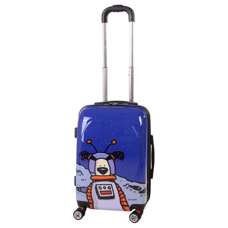 Ed Heck Moon Dog Hardside Spinner Luggage 21 Inch #EH50321