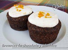 Brownies de chocolate y salvados: Recetas Dukan