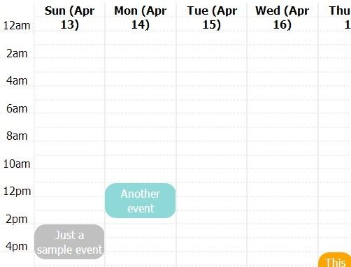 Pretty Calendar is a lightweight jQuery plugin that loads data from a Javascript array object to create an event calendar widget with a smooth expand/collapse transition effect.