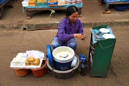 Market woman in Vientiane, Laos.