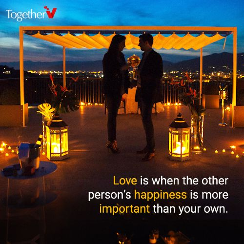 Love is all about sacrifices and compromises. When you are in real love, you forget what compromise even means. All that you know is that the happiness of your Girl/Boy is the only thing that matters to you.  #QuoteoftheDay #TogetherV #Love