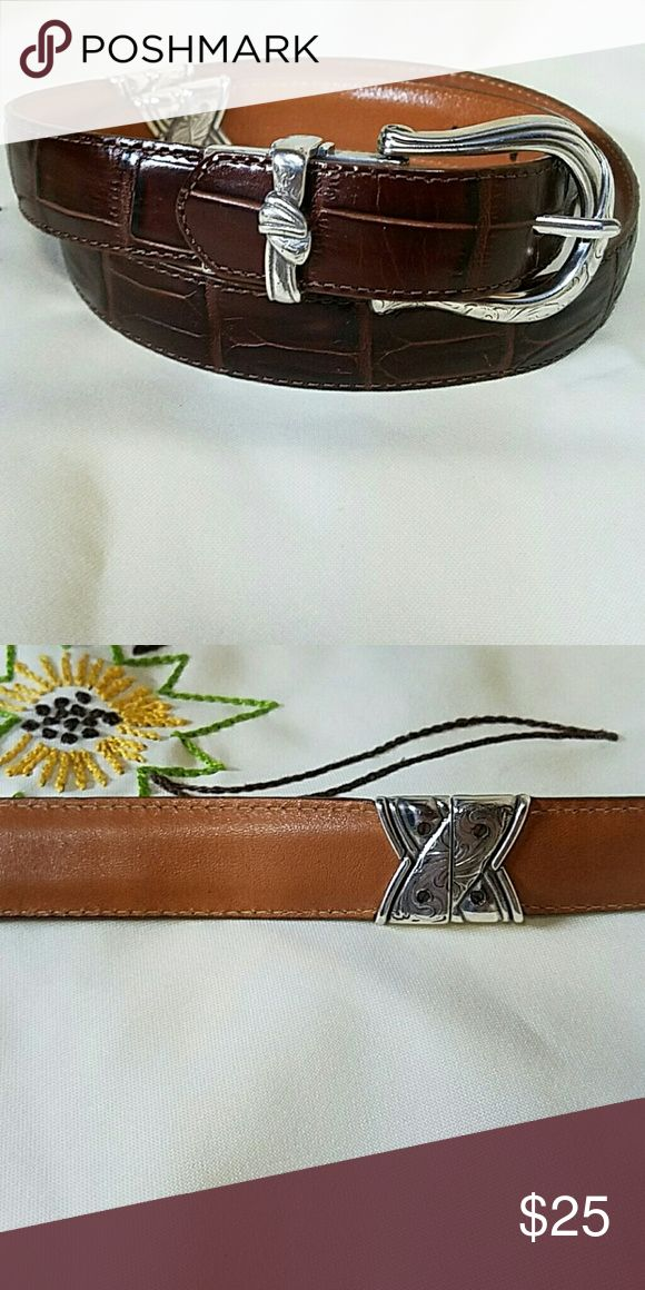 BRIGHTON reversible belt dark brown on one side, tan on the other Brighton Accessories Belts
