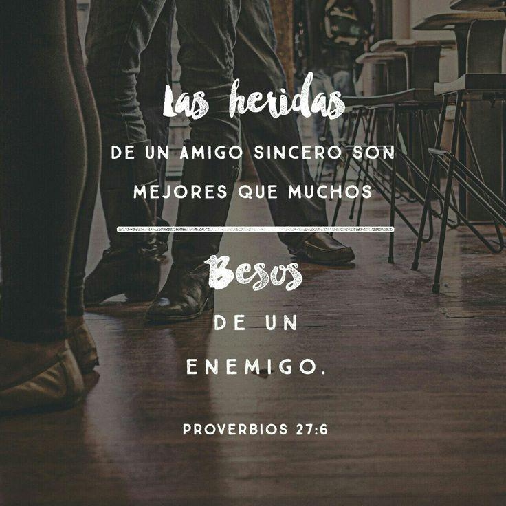 Mejor es reprensión manifiesta Que amor oculto.  Fieles son las heridas del que ama; Pero importunos los besos del que aborrece. Proverbios 27:5-6 RVR1960