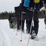 Snowshoeing all the way!