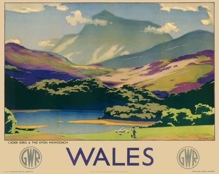 Poster for Great Western Railways, 1937.. Our wall murals bring stunning imagery to life on a large scale.