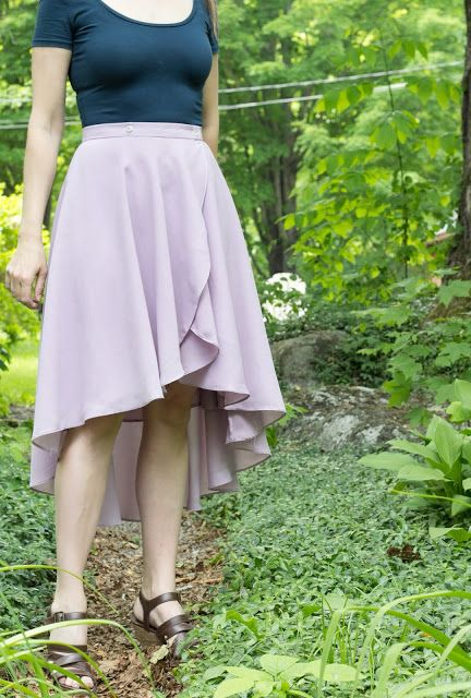 lavendar cascade skirt