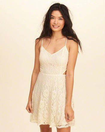 Cutout Lace Skater Dress