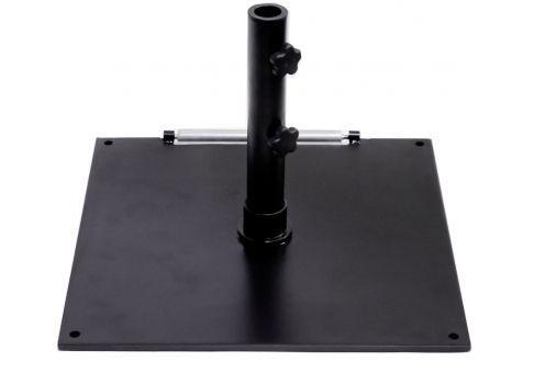 75 lb. Black Square Steel Base Umbrella Stand