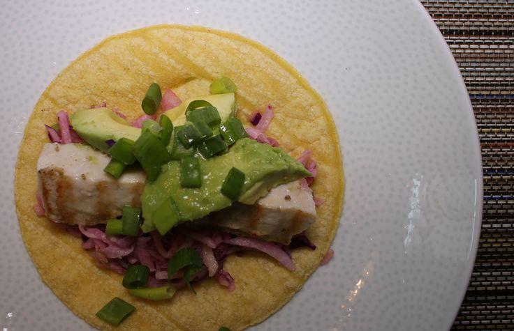 Grilled Mahi Tacos & Jicama Apple Slaw SoyandSugar.com