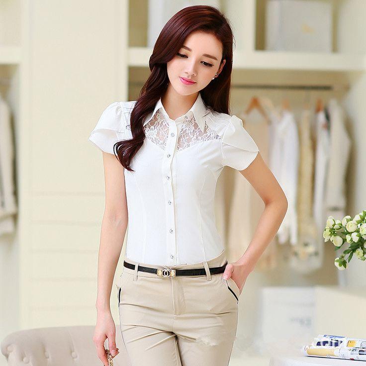 Encontrar Más Blusas y Camisas Información acerca de Moda de encaje blusa camisa…