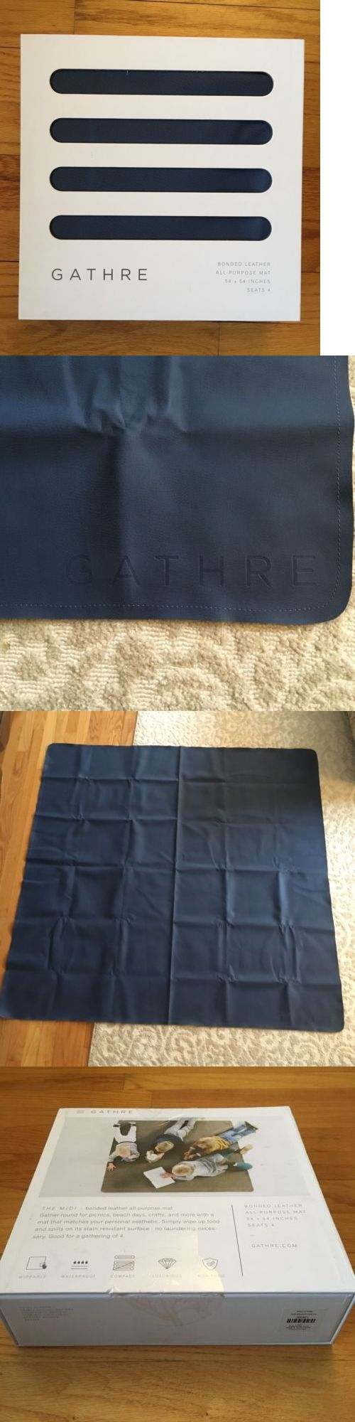 Baby Gyms and Play Mats 19069: Gathre Midi Leather Play Mat Navy Blue | Open Box | Land Of Nod Activity Picnic -> BUY IT NOW ONLY: $70 on eBay!
