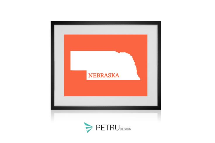 Nebraska print - Nebraska art - Nebraska poster - Nebraska wall art - Nebraska printable poster - Nebraska map - Nebraska Sunset art by Exit8Creatives on Etsy