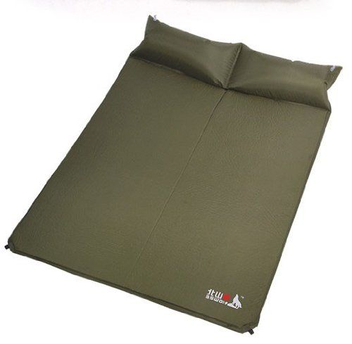 Camping Sleeping Pads - Pin it :-) Follow Us :-)) zCamping.com is your Camping Product Gallery ;) CLICK IMAGE TWICE for Pricing and Info :) SEE A LARGER SELECTION of camping sleeping pads  at  http://zcamping.com/category/camping-categories/camping-cots-beds-and-sleeping-pads/camping-sleeping-pads/ -  hunting, camping, camping bed, camping gear, camping accessories -  BSWolf Q3006-B Double Outdoor Automatic Blow-up Dampproof Sleeping Mat (Army green) « zCamping.com