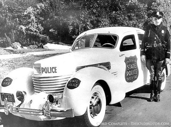 Classic Muscle Cars For Sale >> Indiana State Police 1937 Cord supercharged 812 ...